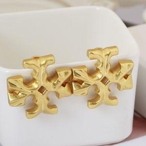 Tory Burch earrings logo gold earrings